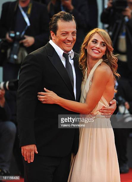 Director Gabriele Muccino RL and Angelica Russo attend the 'To The Wonder' Premiere during the 69th Venice Film Festival at the Palazzo del Cinema on...