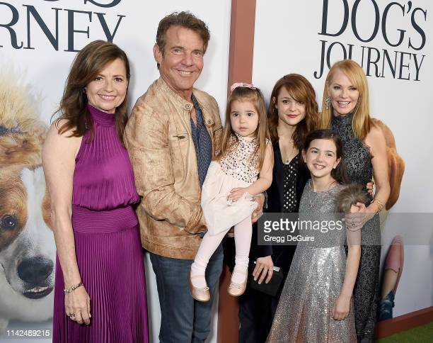 Director Gail Mancuso Dennis Quaid Emma Volk Kathryn Prescott Abby Ryder Fortson and Marg Helgenberger arrive at the Premiere Of Universal Pictures'...