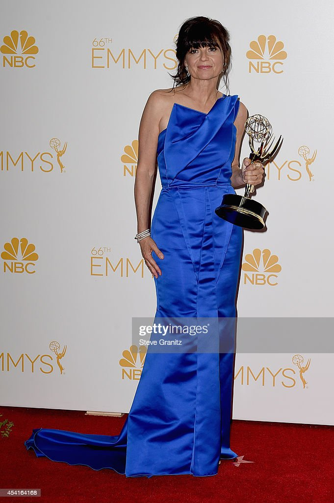 Director Gail Mancuso poses in the press room during the 66th Annual Primetime Emmy Awards held at Nokia Theatre L.A. Live on August 25, 2014 in Los Angeles, California.