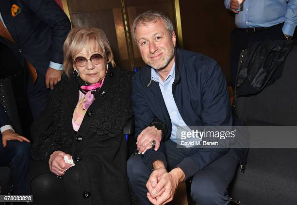 Director Galina Volchek and Roman Abramovich attend the press night after party for The Sovremennik Theatre Season at the May Fair Hotel on May 3...