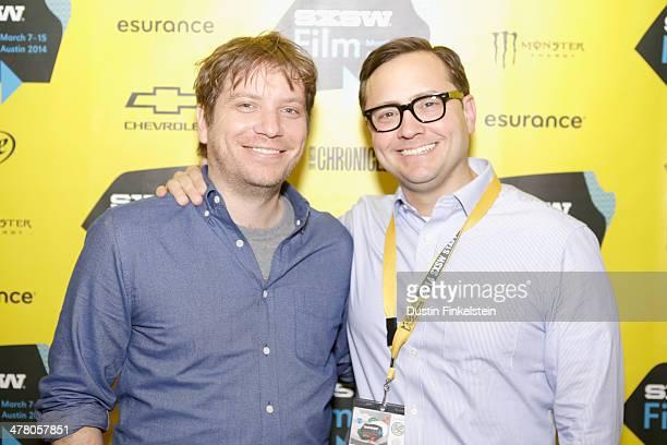 Director Gareth Edwards and SXSW's Jarod Neece attend GODZILLA THE JAPANESE ORIGINAL during the 2014 SXSW Music Film Interactive Festival at Alamo...