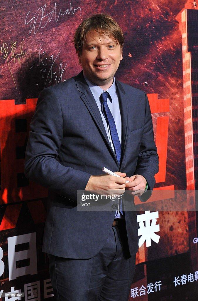 Director Gareth Edwards attends 'Godzilla' premiere on June 11, 2014 in Beijing, China.