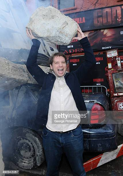 Director Gareth Edwards attends the Canadian Premiere of Godzilla on May 15 2014 in Toronto Canada