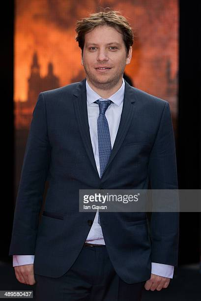 Director Gareth Edwards attends the European premiere of Godzilla at the Odeon Leicester Square on May 11 2014 in London England