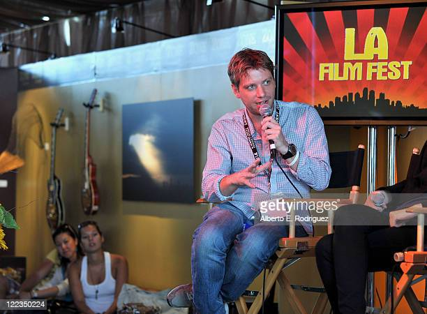 Director Gareth Edwards attends the Filmmaker Lunch Talks Writers Roundtable during the 2010 Los Angeles Film Festival at ZonePerfect...
