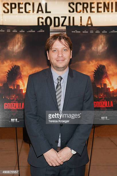 Director Gareth Edwards attends the 'Godzilla' special screening at AMC Uptown on May 14 2014 in Washington DC