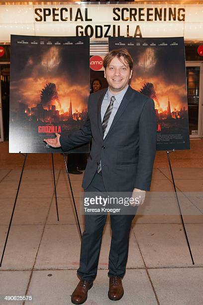 Director Gareth Edwards attends the Godzilla special screening at AMC Uptown on May 14 2014 in Washington DC