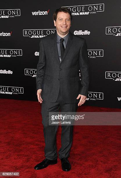 Director Gareth Edwards attends the premiere of Rogue One A Star Wars Story at the Pantages Theatre on December 10 2016 in Hollywood California