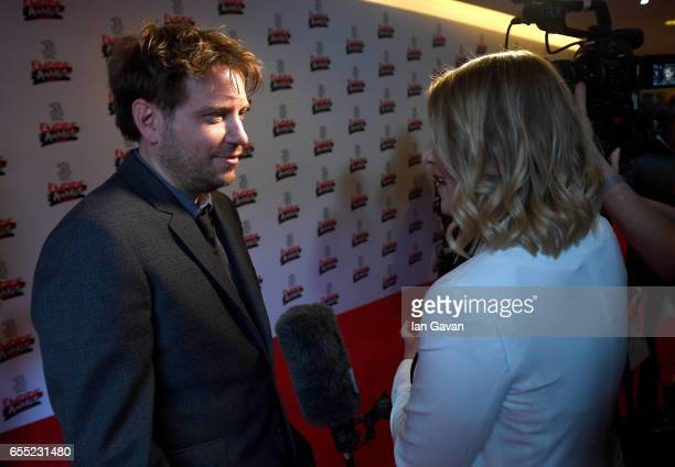 Director Gareth Edwards is interviewed at the THREE Empire awards at The Roundhouse on March 19 2017 in London England