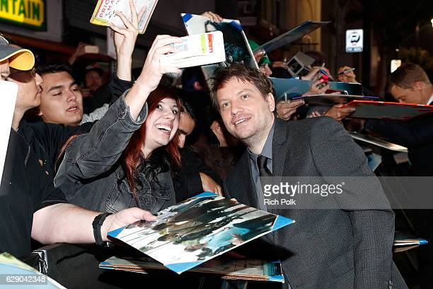 Director Gareth Edwards poses for a selfie with fans at The World Premiere of Lucasfilm's highly anticipated firstever standalone Star Wars adventure...