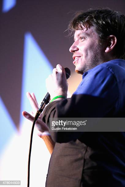 Director Gareth Edwards speaks onstage at GODZILLA THE JAPANESE ORIGINAL during the 2014 SXSW Music Film Interactive Festival at Alamo Ritz on March...