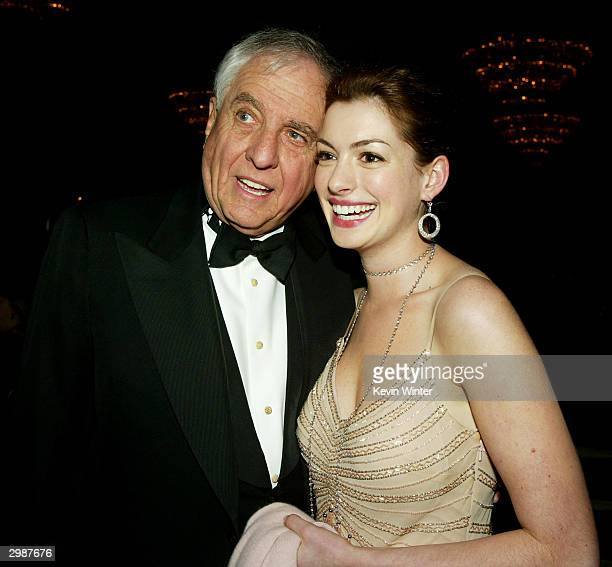 Director Garry Marshall and actress Anne Hathaway talk at The American Cinema Editors' 54th Annual ACE Eddie Awards at the Beverly Hilton Hotel on...