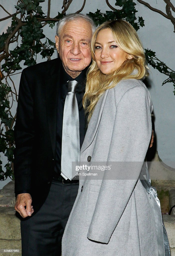 Director Garry Marshall and actress Kate Hudson attend the after party for the screening of Open Road Films' 'Mother's Day' hosted by The Cinema Society with Lands' End at Laduree Soho on April 28, 2016 in New York City.