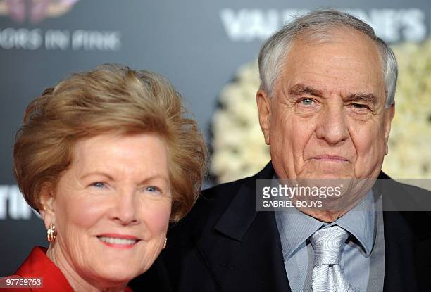 Director Garry Marshall arrives with his wife Barbara Marshall at the Los Angeles Premiere for his new film Valentine's Day at the Grauman's Chinese...