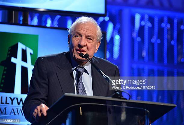 Director Garry Marshall speaks onstage during the 17th annual Hollywood Film Awards at The Beverly Hilton Hotel on October 21 2013 in Beverly Hills...