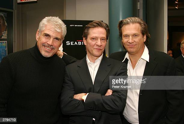 Director Gary Ross actor Chris Cooper and actor Jeff Bridges at An Evening With Jeff Bridges photographs from The Last Picture Show to Seabiscuit...
