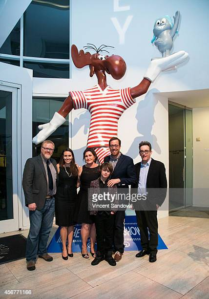 Director Gary Trousdale Amber Ward Tiffany Ward actor Max Charles director Rob Minkoff and actor Tom Kenny attend the DreamWorks Animation and...