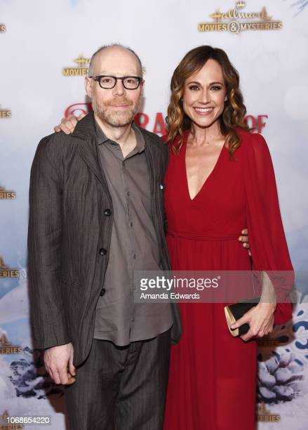 Director Gary Yates and actress Nikki DeLoach arrive at the Hallmark Channel 'Once Upon A Christmas Miracle' screening and holiday party at 189 by...