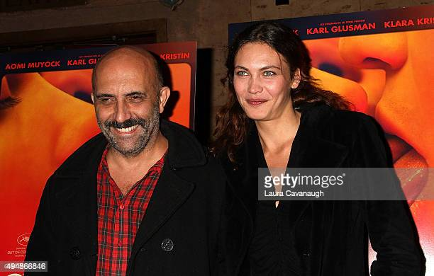 Director Gaspar Noe and actress Aomi Muyock attend the Love New York City Premiere at Village East Cinema on October 29 2015 in New York City