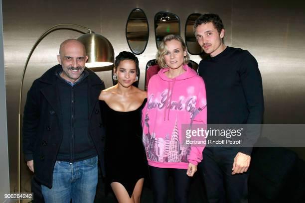 Director Gaspar Noe YSL Beauty Makeup Ambassadress Zoe Kravitz actress Diane Kruger and Zoe's companion actor Karl Glusman attend the 'YSL Beauty...
