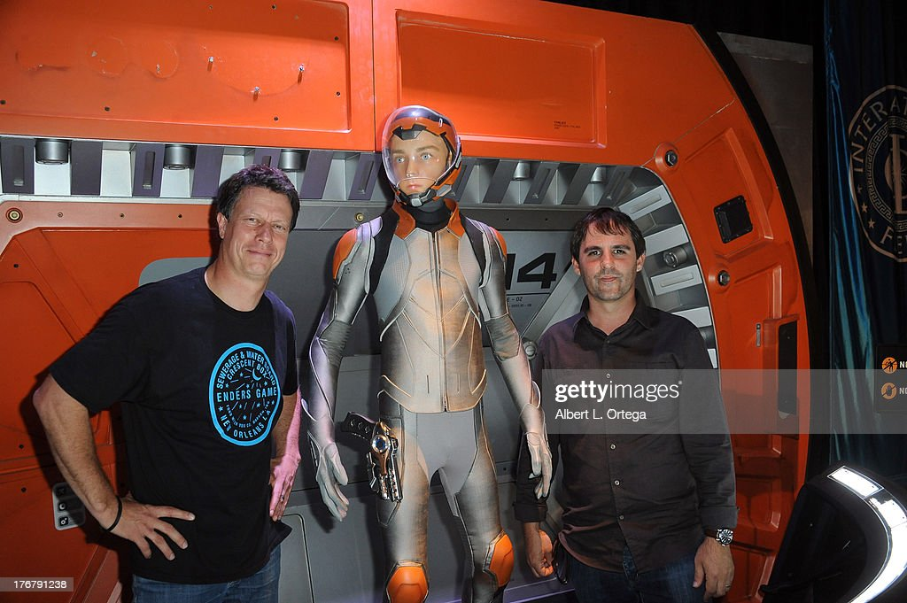 Director Gavin Hood and producer Roberto Orci attend the 'Ender's Game' Experience Press Preview Night held at Martin Luther King Jr. Park on Wenesday July 17, 2012 in San Diego, California.