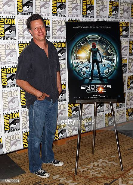 Director Gavin Hood attends Ender's Game ComicCon Press Line at San Diego Convention Center on July 18 2013 in San Diego California