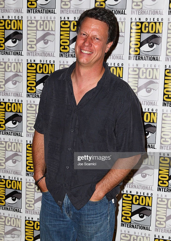 Director Gavin Hood attends 'Ender's Game' Comic-Con Press Line at San Diego Convention Center on July 18, 2013 in San Diego, California.