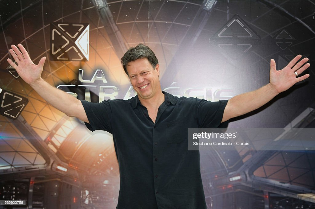 Director Gavin Hood attends the 'Ender's Game' Photocall, in Paris.