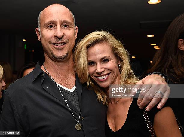 """Director Gavin O'Connor and actress Brook Burns attend Australian in Film presents the Premiere Of """"Felony"""" after party at Harmony Gold Theatre on..."""