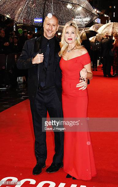 """Director Gavin O'Connor and Brooke Burns attend the UK Premiere of """"The Accountant"""" at Cineworld Leicester Square on October 17, 2016 in London,..."""