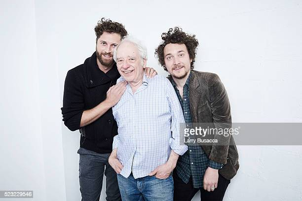 Director Gene Gallerano actor Austin Pendleton and director David H Holmes from 'Starring Austin Pendleton' pose at the Tribeca Film Festival Getty...