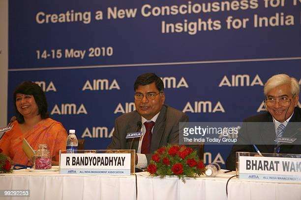 Director General AIMA Rekha Sethi Secretary Ministry of Corporate Affairs Government of India R Bandyopadhyay and Director Tata Group Bharat Wakhlu...