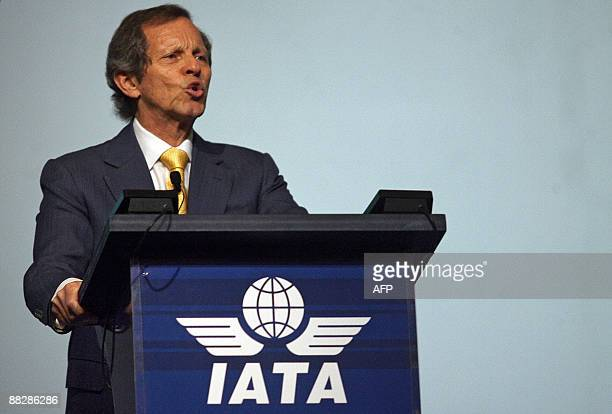 Director general and CEO of the International Air Transport Association , Giovanni Bisignani, delivers his keynote address at the 65th IATA annual...