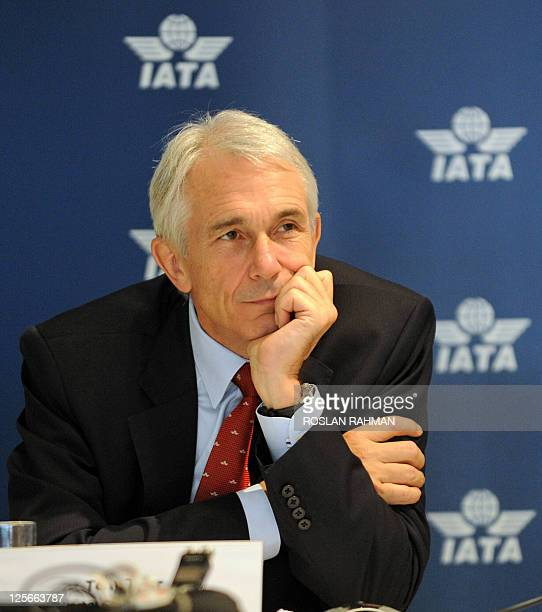 Director general and chief executive Tony Tyler listens during a news conference in Singapore on September 20, 2011. Tyler told a news conference...