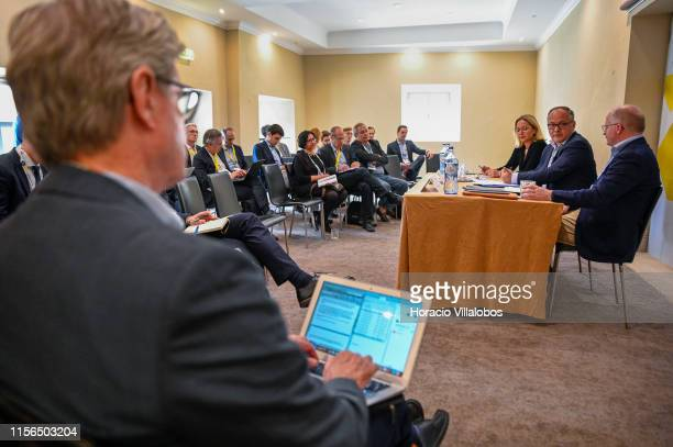 Director General Communications Christine Graeff accompanies French economist Benoît Cœuré and Irish economist Philip Lane Members of the Executive...