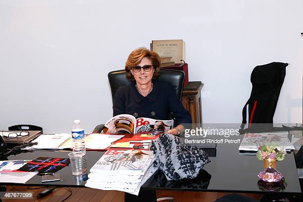Director General for External Relations at Chanel MarieLouise de Clermont Tonnerre attend the Fashion designer Karl Lagerfeld visit at 'Les Ateliers...