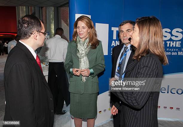 Director General Kathryne Bomberger , Queen Noor of Jordan and ICMP Chairman, former U.S. Diplomat Thomas Miller , CEO of International Executive...