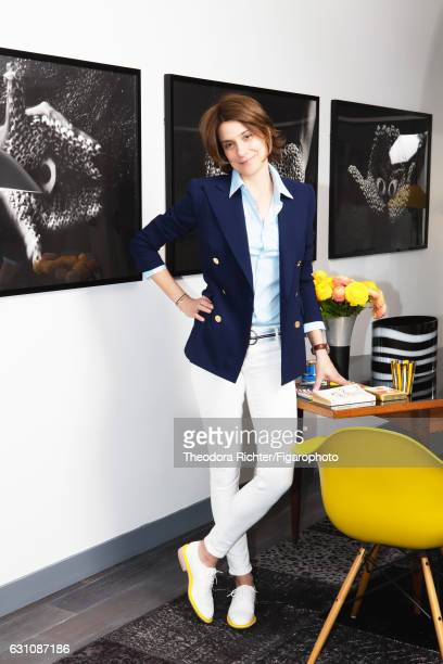 Director General Marketing and Communication of Kaviari Karin Nebot is photographed for Madame Figaro on May 15 2015 in Paris France Jacket shirt...