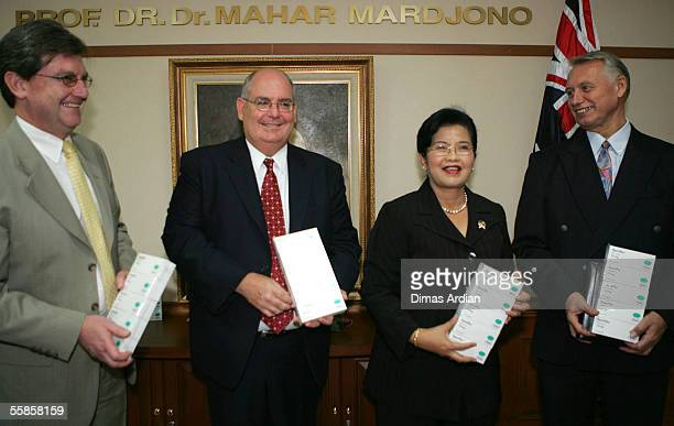 Director General of AusAID Bruce Davis Australian Ambassador David Ritchie Indonesian Health Minister Siti Fadilah Supari and WHO representative Dr...