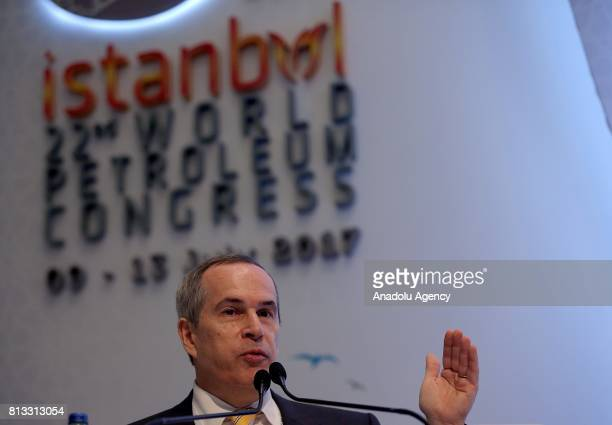 Director General of Brazil's National Agency of Petroleum Natural Gas and Biofuels Decio Fabricio Oddone speaks during the 22nd World Petroleum...