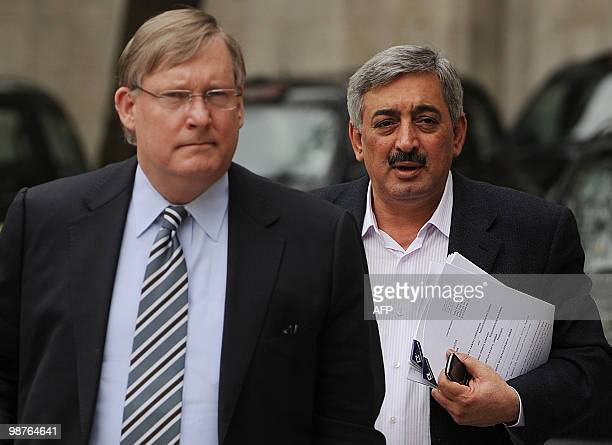 Director General of Iraqi Airways Kifah Hassan Jabbar arrives at the High Court in central London on April 30 2010 Hassan appeared in court Friday...