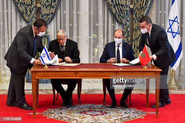 Director General of Israel's Population and Immigration Agency Shlomo Mor-Yosef and Minister Delegate to Morocco's Minister for Foreign Affairs...