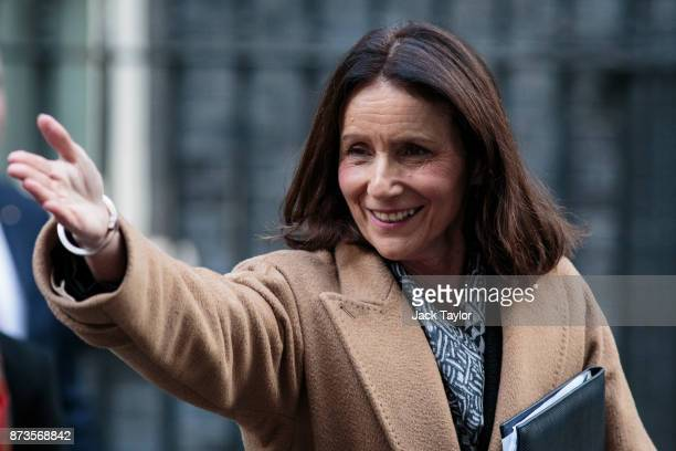 Director general of the CBI Carolyn Fairbairn leaves number Number 10 Downing Street on November 13 2017 in London England British Prime Minister...