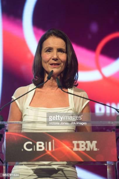 Director General of the CBI Carolyn Fairbairn speaks at the CBI annual dinner at Grosvenor House Hotel in central London