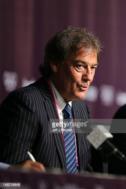 Director General of the World AntiDoping Agency David Howman speaks during a World Anti Doping Agency Briefing ahead of the 2012 London Olympic Games...
