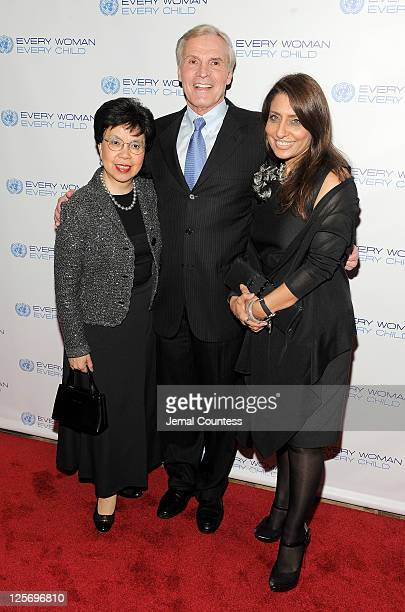 Director General of the World Health Organization Margaret Chan and United Nations SecretaryGeneral's Special Envoy for Maleria Ray Chambers attend...
