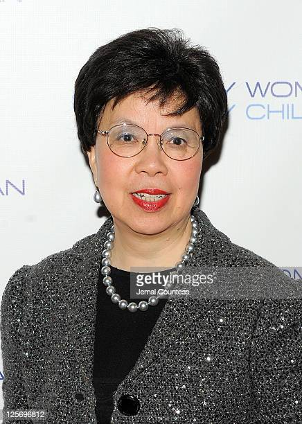 Director General of the World Health Organization Margaret Chan attends Every Woman Every Child MDG Reception at the Grand Hyatt on September 20 2011...