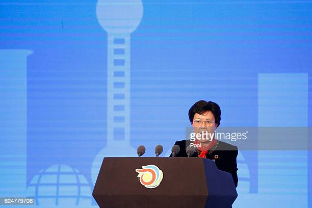 Director General of the World Health Organization Margaret Chan speaks during the opening ceremony of the 9th Global Conference on Health Promotion...