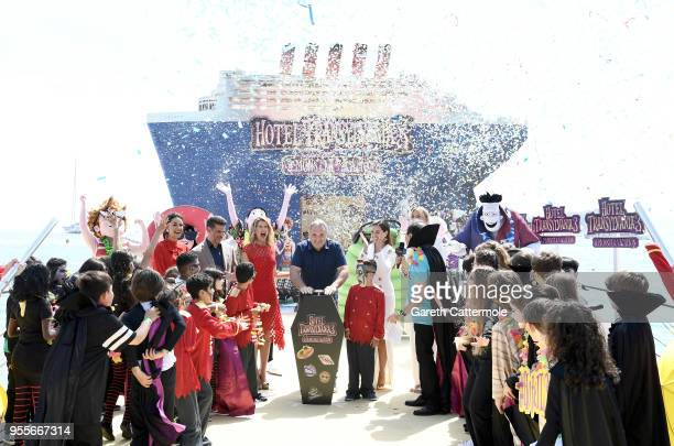 Director Genndy Tartakovsky and international voice cast cruise into the 71st Cannes Film Festival for a colourful photocall with monster characters...