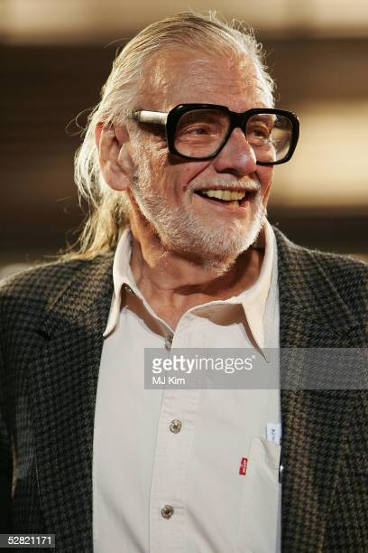 Director George A Romero attends a screening of Midnight Movies From Margin to the Mainstream at the Grand Theatre during the 58th International...